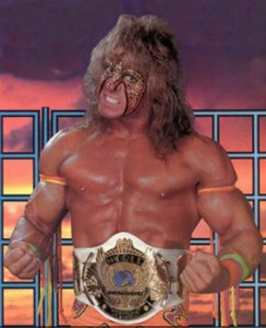 L'Ultimate Warrior avec la ceinture de champion