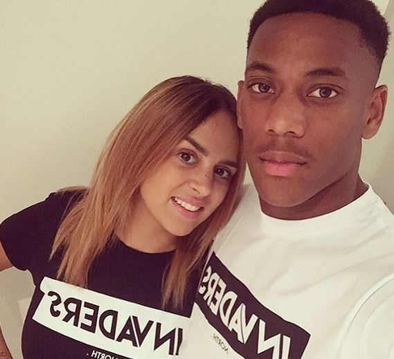 Samantha et Anthony Martial