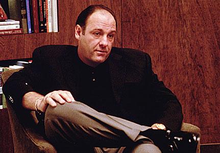 James Gandolfini incarnant Tony Soprano