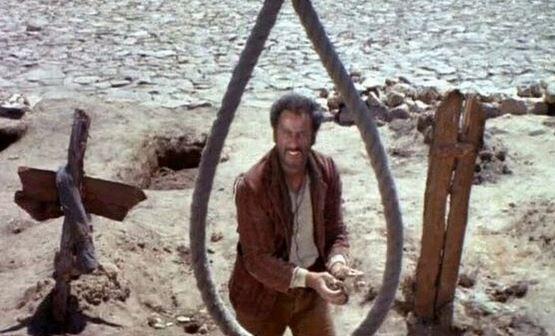 Eli Wallach jouant Tuco dans Le Bon, La Brute et Le Truand