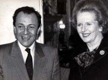 Michel Rocard et Margaret Thatcher